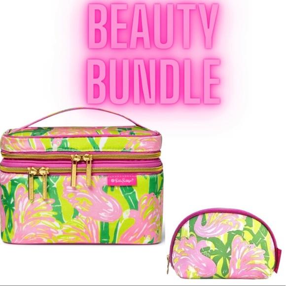 Lilly Pulitzer for Target Flamingo Makeup Bag Set
